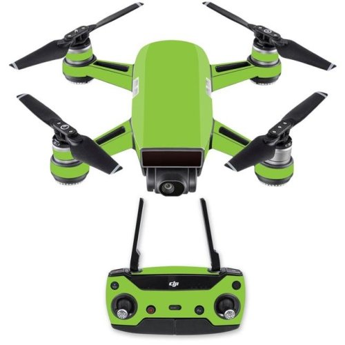 Mightyskins DJSPCMB-Solid Lime Green Skin Decal for DJI Spark Mini Drone Combo - Solid Lime Green