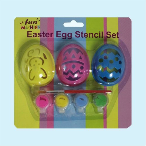 Easter Arts and Craft Decorations, Egg Decorating, Craft Kits - Egg Stencil Kit