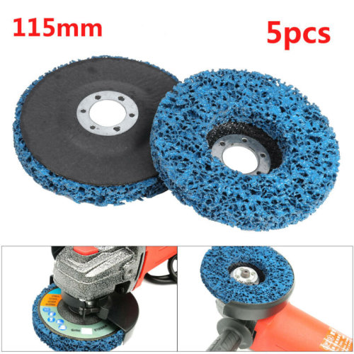5pcs 115mm Poly Strip Wheels Paint Rust Removal Clean Angle Grinder