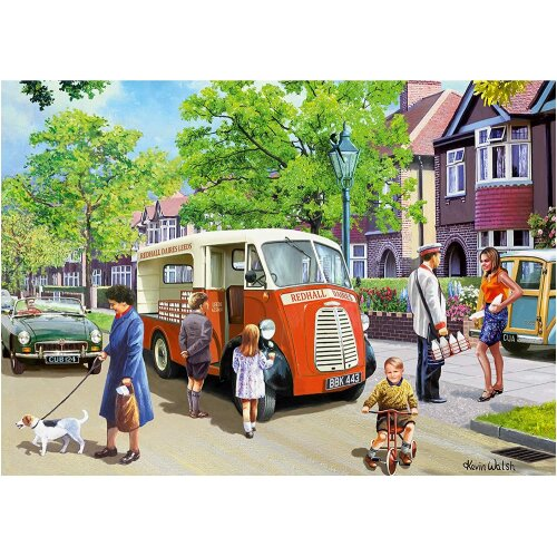 Falcon Deluxe The Milkman Jigsaw Puzzle (1000 Pieces)