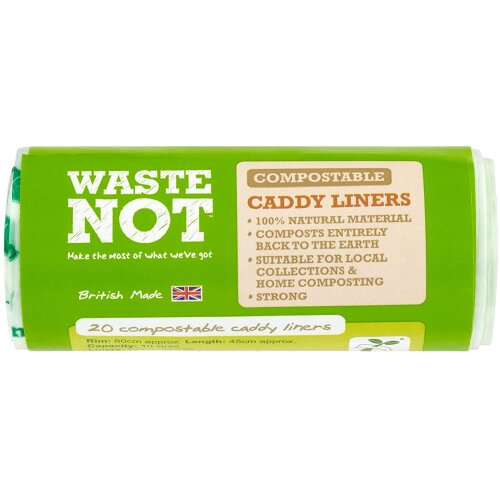 Waste Not  10l  Compostable Caddy Liner 5packs x 20ct (100ct)