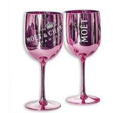 Moet & Chandon Ice Imperial Acrylic Champagne Glasses - Pink