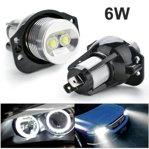 For 2xBMW E90 E91 3 Series Angel Eye Ring LED Light 6W Marker Bulb