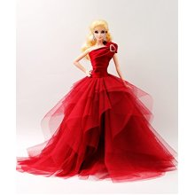 [Handmade Dress Fit For 12 Doll] The Cora Gu Handmade Miss Sally Red Dress Fit For 12 Fashion Doll(Dolls not included)