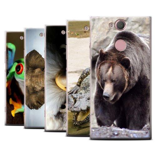 Wildlife Animals Sony Xperia XA2 2018 Phone Case Transparent Clear Ultra Slim Thin Hard Back Cover for Sony Xperia XA2 2018
