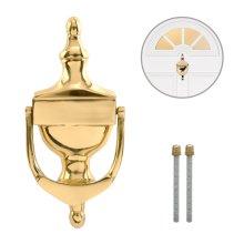 Polished Brass Door Knocker 150mm Victorian Urn for Timber & UPVC Porch Doors