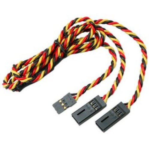 Hitec 54704S 24 Hvy Gge Twisted Wire Y Harness w Pins