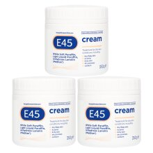 E45 Dermatological Cream 1.05kg Treatment for dry skin conditions Perfume free Hypoallergenic Better Value Triple Pack (Set of 3 x 350g tubs)