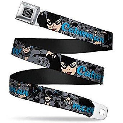 Seatbelt Belt - DC Comics - Cat Woman V.2 Adj 24-38' Mesh New dco-wcw002