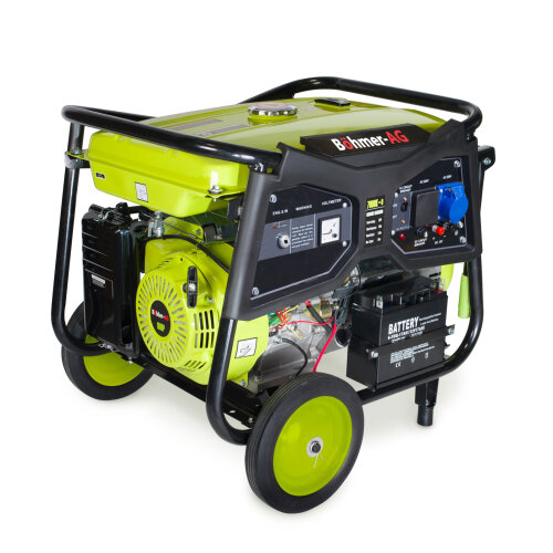 Bohmer-AG  WX7000K-e Petrol Generator Electric Key Start | 9.5KW 11.5kVA | Portable Power with UK Plugs