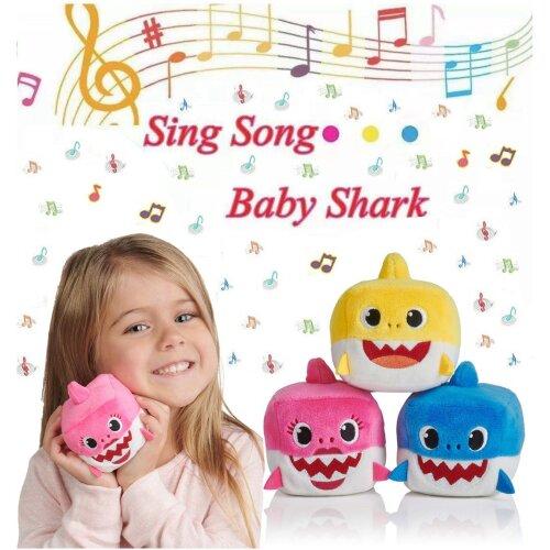 Baby Shark Plush Cube Sing Song Kids Gift Doll 8cm