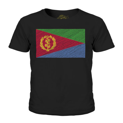 Candymix - Eritrea Scribble Flag - Unisex Kid's T-Shirt