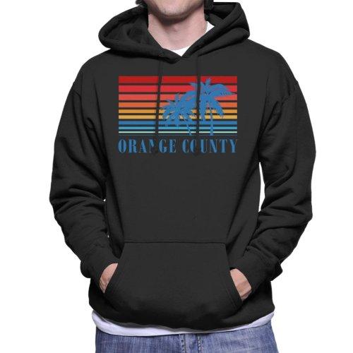Orange County Retro 70s Sunset Men's Hooded Sweatshirt