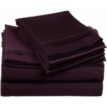 Egyptian Cotton 650 Thread Count Solid Sheet Set  Full-Plum