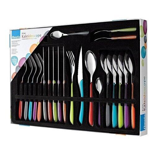 Amefa Eclat Kaleidoscope 24 Piece Cutlery Set Stainless Steel - Coloured Handles