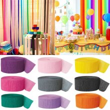 82FT Crepe Paper Party Streamers Roll Decor Craft