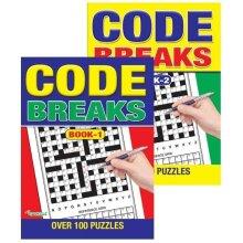 Jumbo Puzzle Book 1 or 2 Code Breaks Over 100 Brain Teasers Large Print Freepost