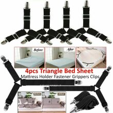4pcs Triangle Bed Sheets Mattress holder fastener grippers clips