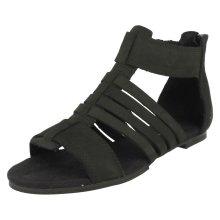 Ladies CAT Gladiator Style Sandals Tanga - Black Leather - UK Size 3 - EU Size 36 - US Size 5