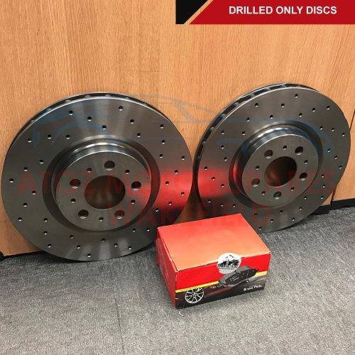FOR LEXUS CT200h 2010- FRONT CROSS DRILLED BRAKE DISCS MINTEX PADS 255mm