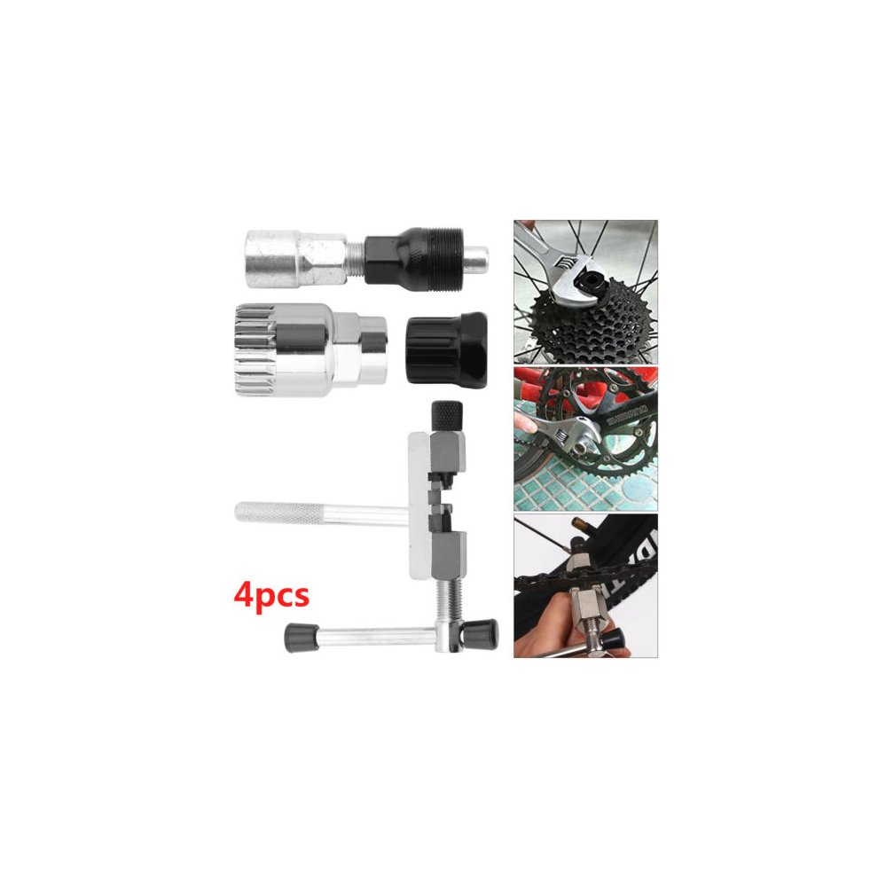 4 in 1 Bicycle Mountian Bike Crank Chain Axis Extractor Removal Repair Tools Set