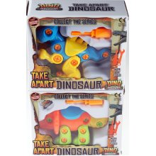 Set Of 2 Take Apart And Construct Chunky Toy Dinosaurs - T Rex / Triceratops