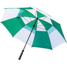 Longridge - Deluxe Windproof - Green/White Umbrella
