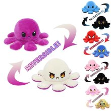 Double-Sided Flip Reversible Octopus Plush Doll