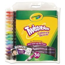 twistables Colored Pencils, 30 Assorted Colors 2 Pack