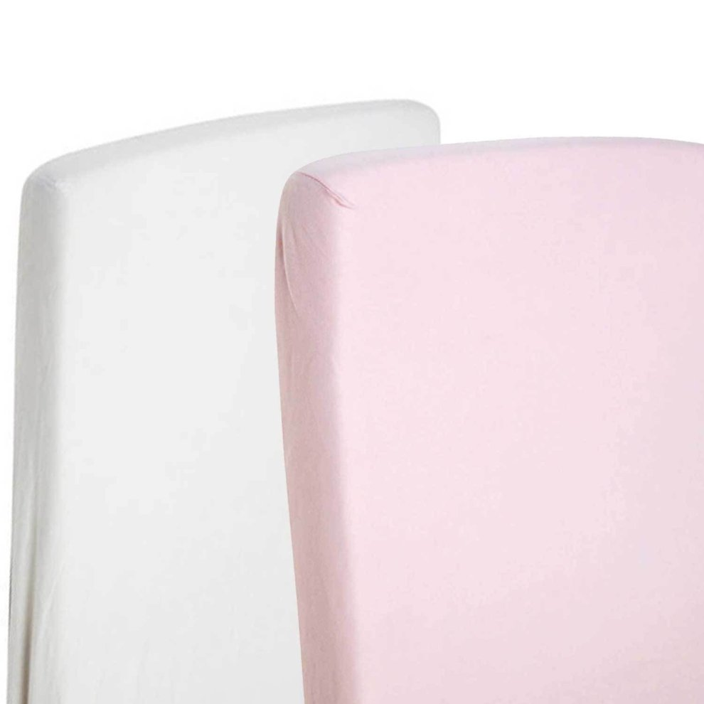 1x Cot Bed Jersey Fitted Sheet 100/% Cotton 140 X 70cm Pink