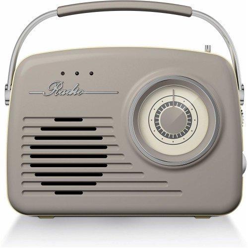 Akai Vintage AM/FM Radio | Battery or Mains Powered 1950s Style Wireless