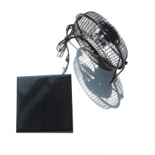 Solar Powered Panel, Iron Fan