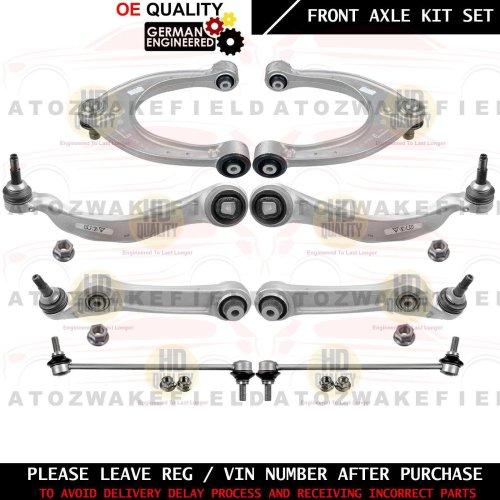 FOR BMW 5 7 SERIES FRONT UPPER LOWER SUSPENSION WISHBONES ARMS BALL JOINTS KIT 8