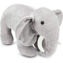 Zappi Co Childrens Stuffed Soft Cuddly Toy Safari Jungle Animal Plush (Large, Elephant)