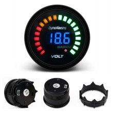 2'' 52mm Digital Analog LED Electronic Auto Car Voltage Gauge Volt Meter Smoke Face for Most 12V Gasoline Vehicle