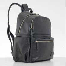 Allis Baby Leather Changing Bag Backpack - Black