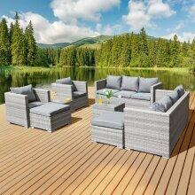 Garden Furniture Rattan Sofa Acorn 10-seater set