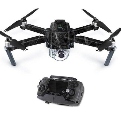 MightySkins DJMAVPRO-Black Marble Skin Decal Wrap for DJI Mavic Pro Quadcopter Drone Cover Sticker - Black Marble