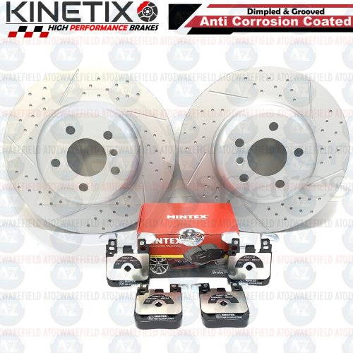 FOR BMW 3 4 SERIES F30 F34 F32 F36 REAR DIMPLED GROOVED BRAKE DISCS PADS 345mm
