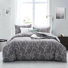 Grey Branches Design Duvet Cover Bedding Set