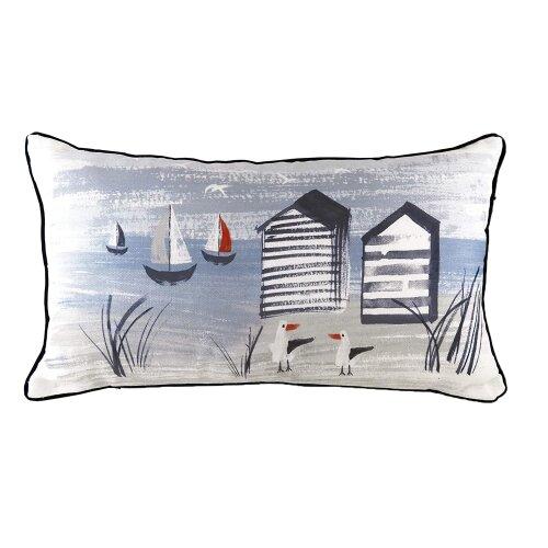 Evans Lichfield Nautical Beach Hut Cushion Cover
