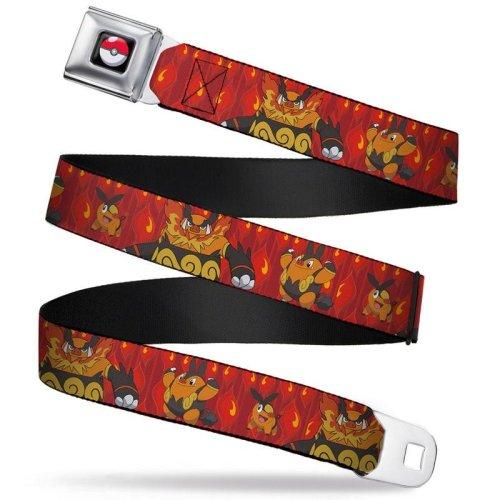 Seatbelt Belt - Pokemon - V.12 Adj 24-38' Mesh New pka-wpk026