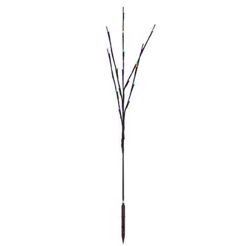Vickerman X15B667 Wide Angle Brown Wire Twig with MardiGras Purple, Gold, Green LED Lights - 36 in. - 3 Piece