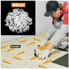 1000x Tile Leveling Spacer System Tool Clips Wedges Flooring Lippage Plier UK
