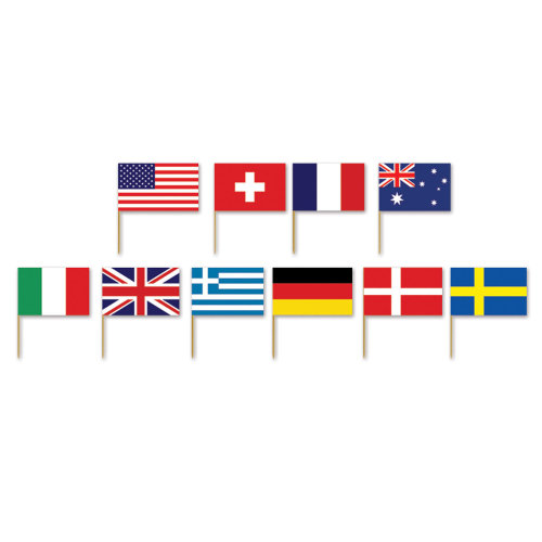 Party Table Ware fnt International Flag Luncheon Napkins