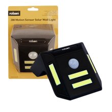 Rolson Motion Sensor Solar Wall Light - 3W