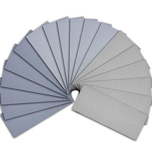 SIQUK 18 Pieces Sandpaper Wet and Dry Sandpaper Assortment 3000 5000 7000 High Grit Sanding Paper 9 x 3.6 Inches Abrasive Paper for Automotive Sandi