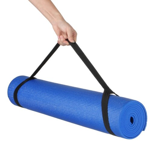 Kabalo - 173cm long x 61cm wide - EXTRA THICK 6mm - Non-Slip Yoga Mat with carry strap, also for Exercise / Pilates  / Gym / Camping, etc