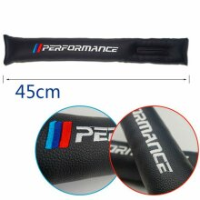 2x Sports Styling Car Seat Gap Filler Black PU Leather Spacer For BMW