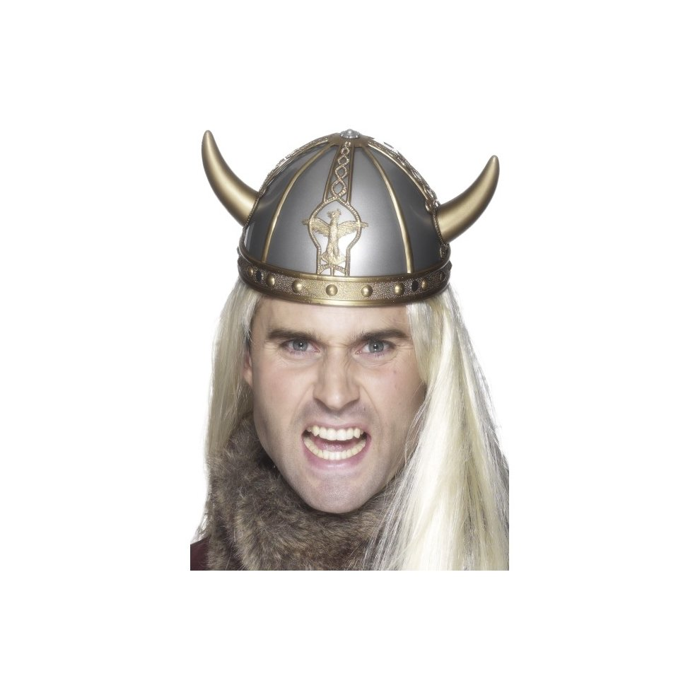 Funny Fancy Dress Hat NEW Viking Helmet w// Horns